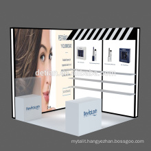 Detian Offer beauty exhibition booth portable exhibition stand trade show equipment