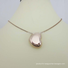 Making Artificial Jewellery Stainless Steel Gold Heart Necklace
