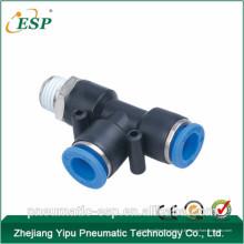 Chine pst série pneumatique en plastique mâle exécuter tee raccords (PD)