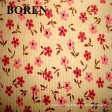 Corduroy tecido feito de 100% algodão flor Imprimir Corduroy