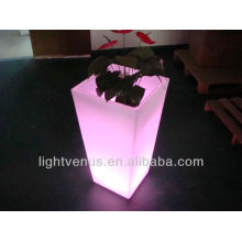 BSCI certified manufacturer colorful flashing rechargeable illuminated led lighted led planters and pots