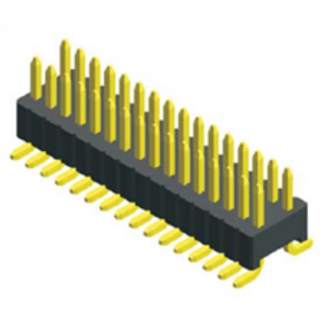 Conector masculino de SMT da fileira do passo de 1.27mm duplo