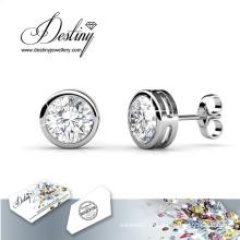 Destino joias cristais de Swarovski rodada brincos
