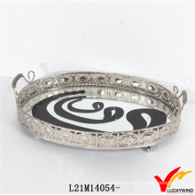 Wholesale Silver Appear Antique Metal Serving Trays