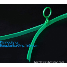2.4cm 2.2cm width pvc transparent zipper without teeth, Ring puller slider colored flat pvc zipper for shopping bags