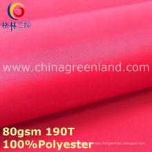 Plain Dyeing Pongee Polyester Taffeta Fabric for Textile Lining (GLLML298)
