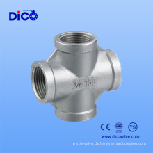 Made in China Gussteil Edelstahl Cross Pipe Fitting