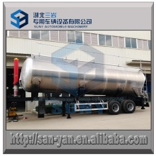 Aluminum 45 M3 Liquid Tippig Tanker Trailer