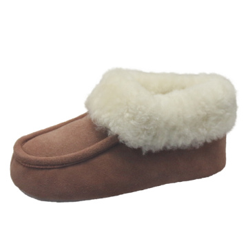 Design comfortable women casual moccasin leather boots