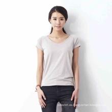 OEM Bulk Camisetas de bambú de las señoras al por mayor