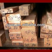 barras de cobre quadradas c1100 / c11000