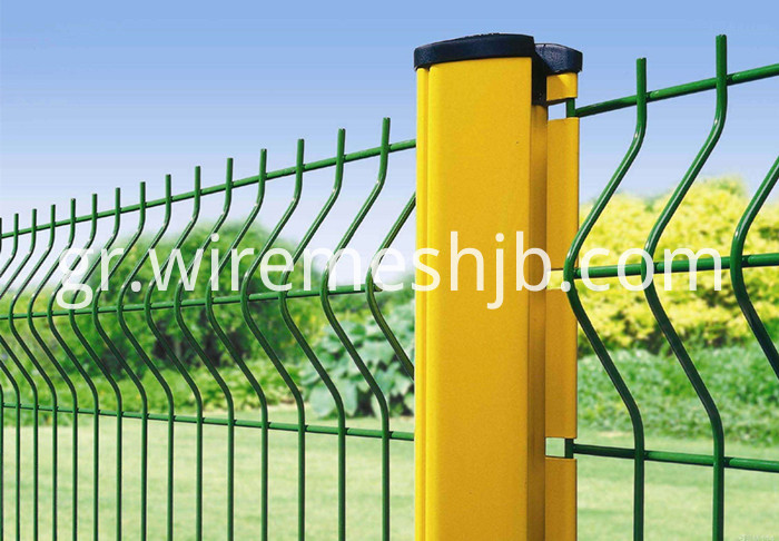Green Wire Mesh Fence