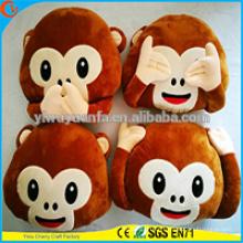 High Quality Popular Various Designs Plush Monkey Emoji Pillow