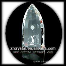 Imagem de Laser 3D K9 dentro de cristal