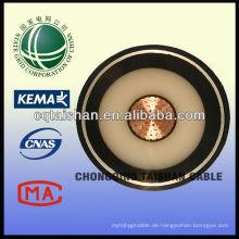 Heißer Verkauf 110kV Kupfer XLPE Isoliertes PVC 1 * 500mm2 Feuer-beständiges Energien-Kabel vom Zustand-Raster von China