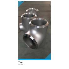Accesorios de tubería Ss321 Ss304 Ss316 T de acero inoxidable