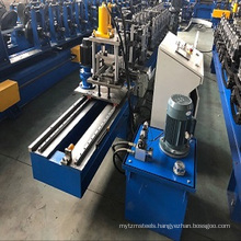 Hydraulic cutter L shape and W shape metal grid wall angle tee roll forming machine