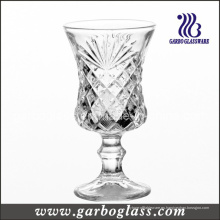 4oz pie grabado Copa de vidrio de vino (GB040304ZH)