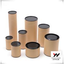 2016 custom printed logo packaging tube corrugated paper box round