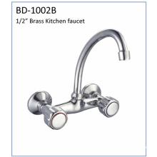 Bd1002b Double Handle Brass Kitchen Faucet