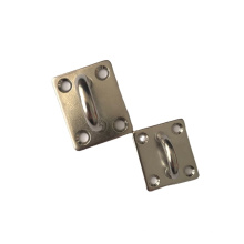 Marine Duty Stainless Steel Square Pad Eye Plate Sail