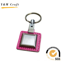 Porte-clés en cuir avec porte-clés en métal (Y02113)