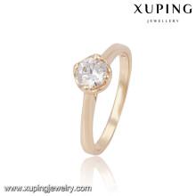 13808 Xuping anillos de dedo de diseño simple al por mayor