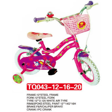 O pneu branco caçoa a bicicleta da bicicleta / bebê 12 polegadas