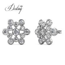 Premium Austrian Crystal Jewelry Elnora Big Star Hexagon Stud Earrings for Women
