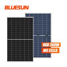 Bluesun 350w 360w solar panel 12v mono 380w monocrystalline for prefab house
