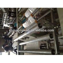 Control de computadora rodando camiseta y bolsa plana que hace máquina bolsa de papel de cemento que hace la máquina