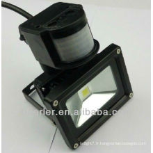 IP65 50w capteur de mouvement capteur illumination noir / argenté