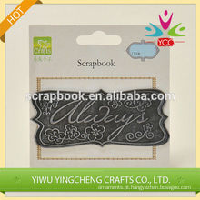 2016 moda Natal alibaba china fornecedor personalizado metal adesivos 3M para scrapbooking