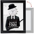 cheap custom 24x36 black creative art Aluminum Poster Frame with 1 PVC Transparent Protective Film