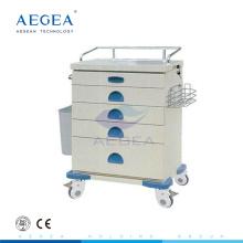AG-AT020 prix pour le chariot de chariot de l'hôpital de l'accident d'urgence deux avec des freins croisés