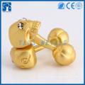 Crachá de abobora de ouro do fabricante de manguito personalizado