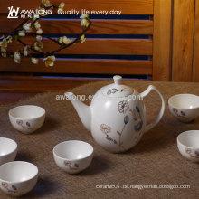 900ml runde Form orientalische Design Fine Bone China Tee Set für Großhandel