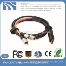 Kuyia Brand 3RCA TO HDMI cable Male to male Audio Video Component Convert Cable