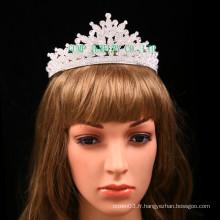 Direct Factory Rhinestone Tiara Clear Stone Crown pour le mariage