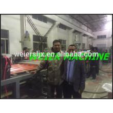 Linha de produção de telhas onduladas de nova máquina teste de PVC