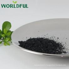La Chine fournissent le flocon brillant d'humate de sodium superbe utilisé comme engrais de poissons et additifs de forage de pétrole