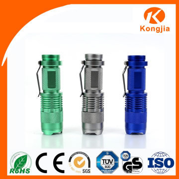 2016 Chinese Factory 3W Top Selling Aluminum Outdoor Light Mini Torch Flashlight Camping
