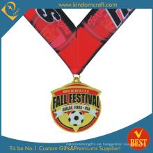 China-kundengebundene Qualitäts-nachgemachte Emaille-Fußball- oder Fußball-Medaille in der Qualität