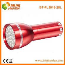Factory Supply Bonne qualité Cheap Price 28 led Aluminium Small Torch Light avec batterie 3AAA