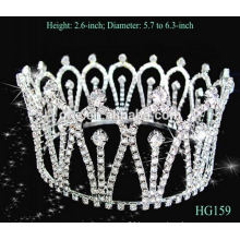 Professional manufacture factory directly large rhinestone pageant crowns