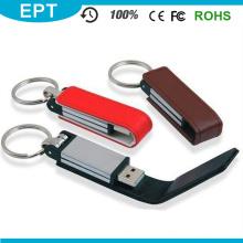 Promocional mais popular couro engraçado USB com certificado