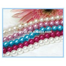 Многоцветный стеклянный жемчужный жемчуг для ожерелья