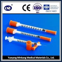 Seringue médicinale à insuline jetable, avec aiguille (0,5 ml), avec Ce & ISO approuvé