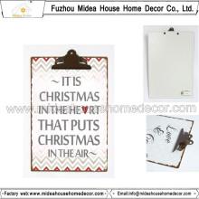 Prancheta de metal para idéias do presente do Natal