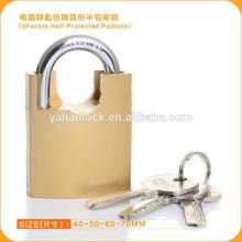 Professional Golden Shackle Half Protected Computer Key Padlock